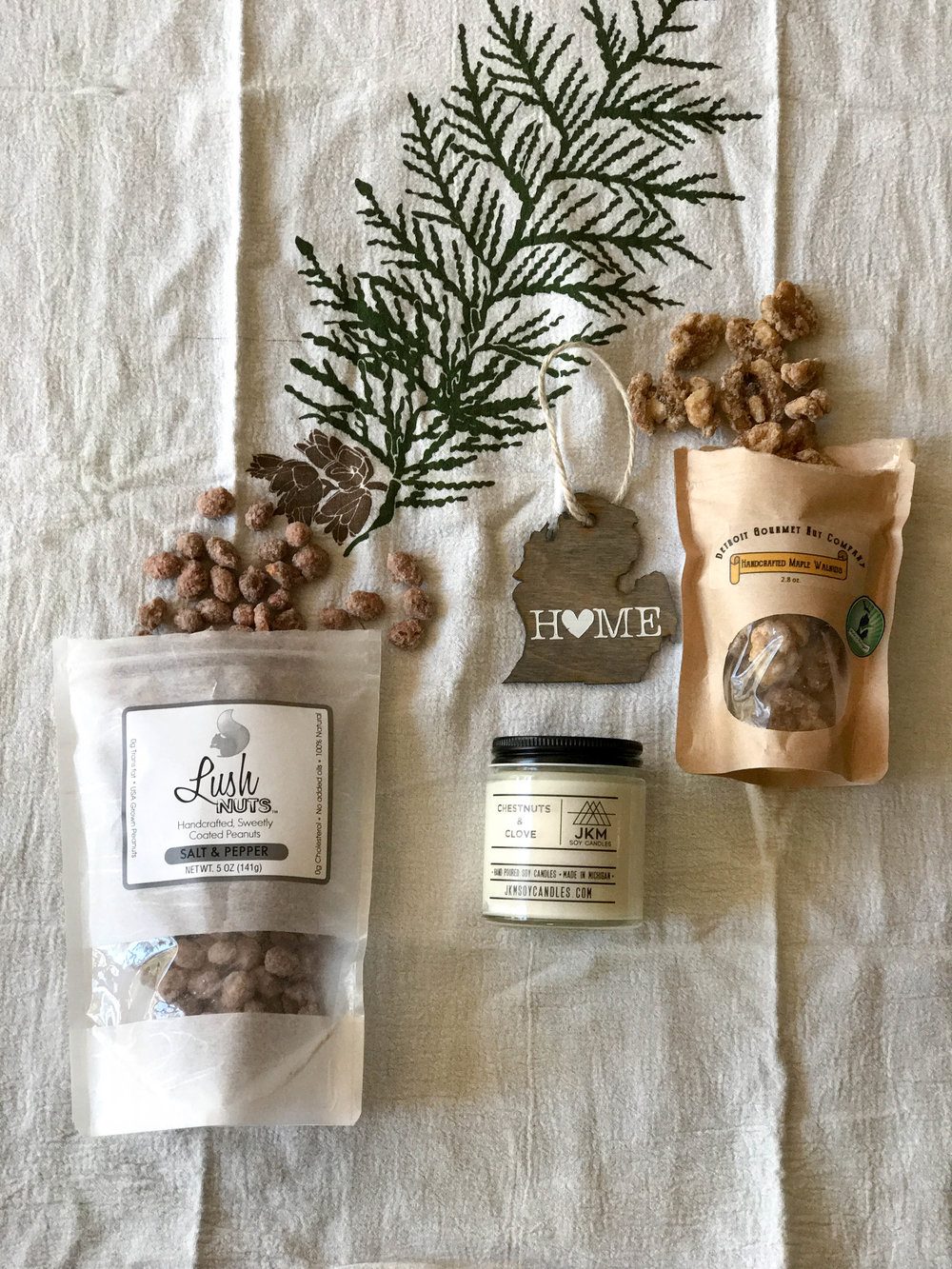 Holiday gift bundle all Michigan Made, holiday gift,  michigan local, unisex gift, bundled, shop local, small business, handmade, michigan made, bundledmi, food gifts, unisex christmas gift, holiday cheer, mother in law gift,