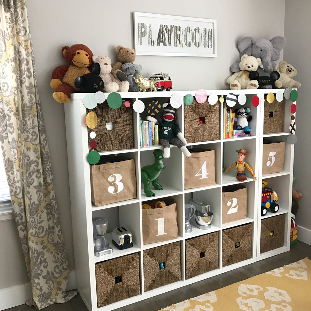 holiday decorating playroom