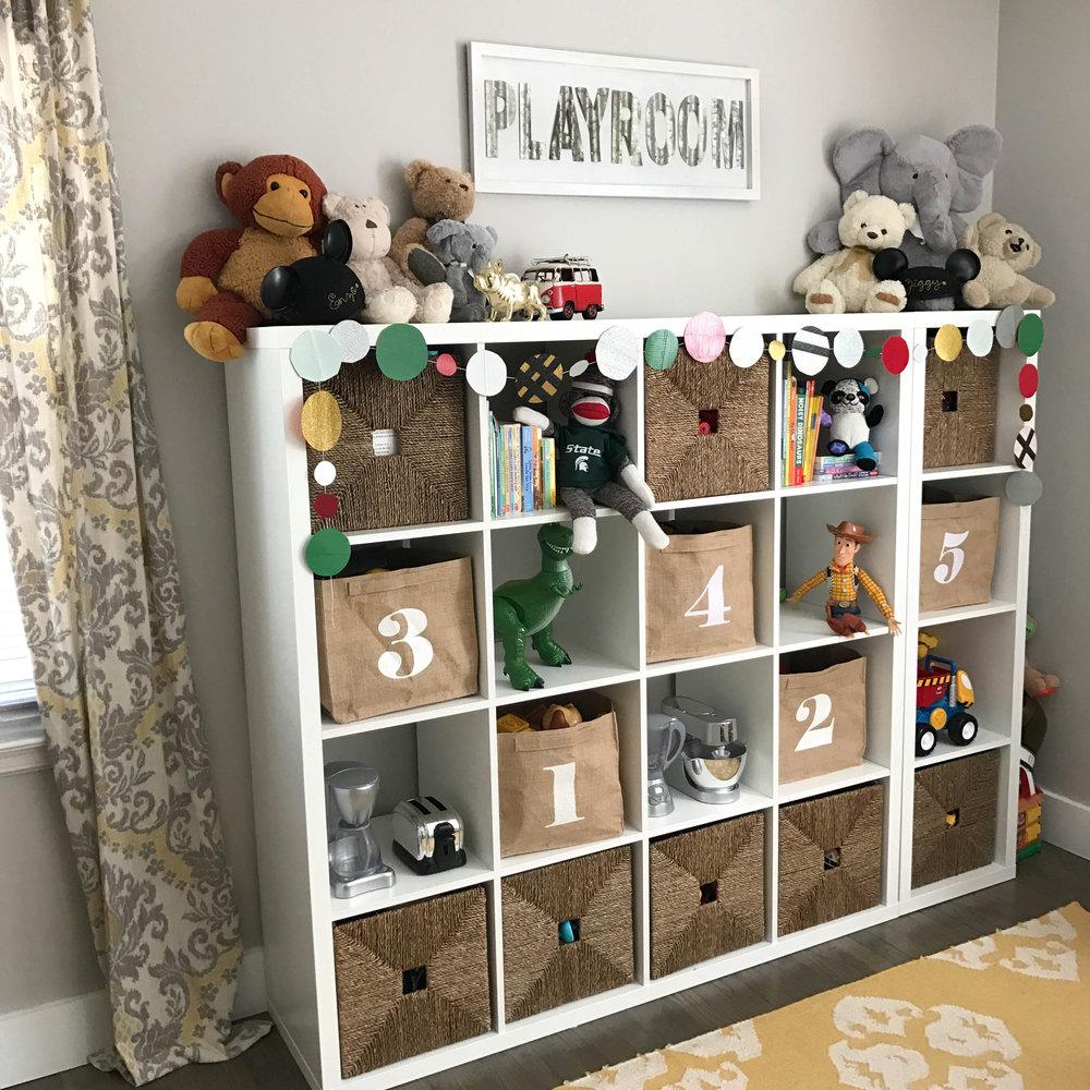 holiday decorating playroom