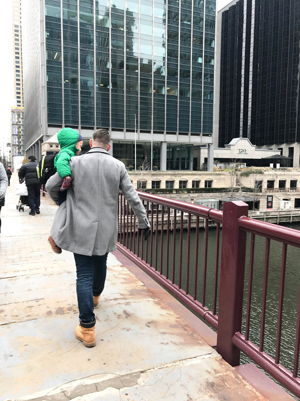 Chicago in the winter with toddlers