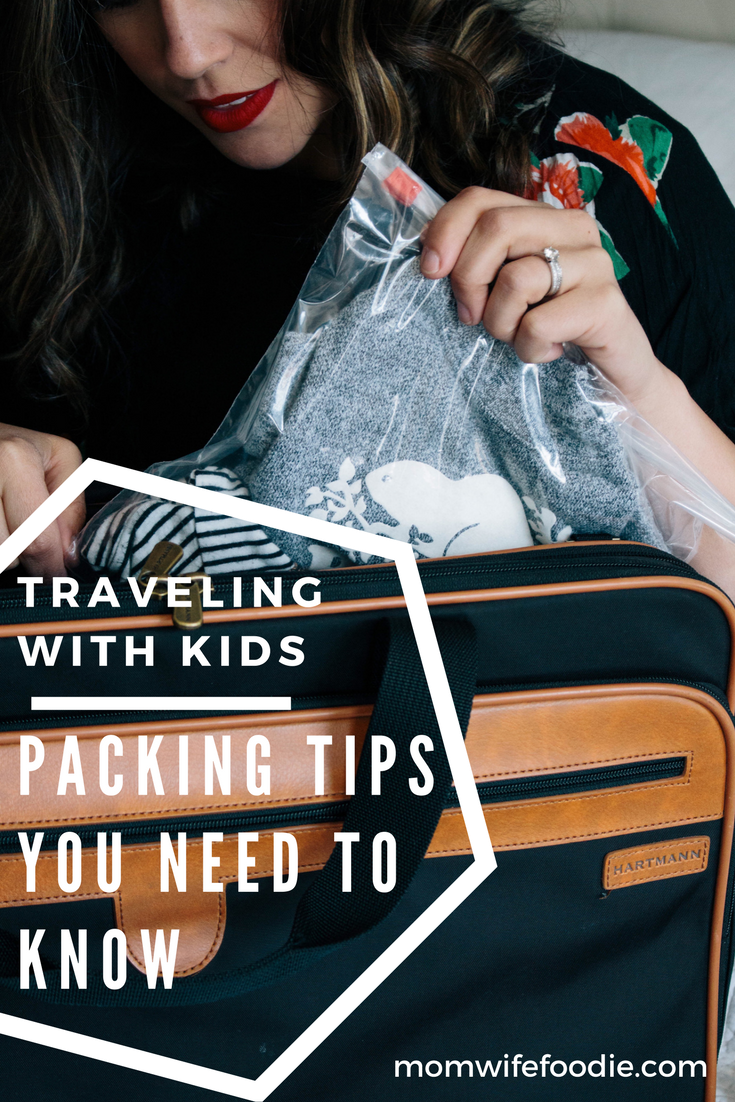 how to pack with kids, ziplock bag ideas, tips and tricks for your family