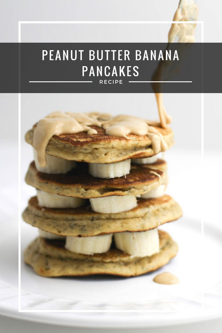 Peanut Butter Banana Pancakes Recipe, peanut butter and banana pancakes, how to make peanut butter pancakes, peanut butter, peanut butter and bananas,