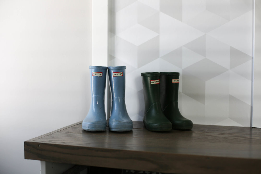 hunter boots for kids, mudroom