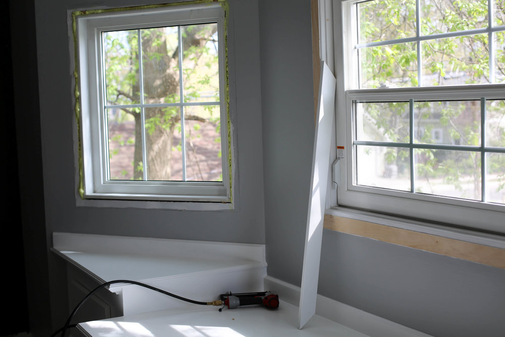 how to put up new window casing