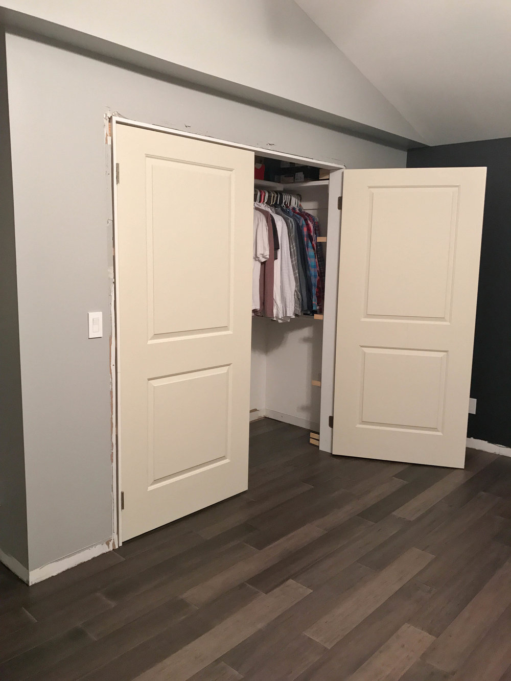 how to make a french door closet
