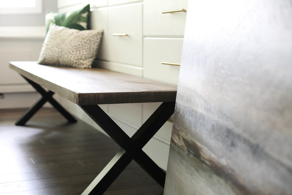 reclaimed wood bench, repurposed bench