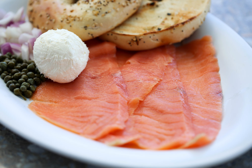 Sarasota Florida best breakfast, lox, bagel, salmon