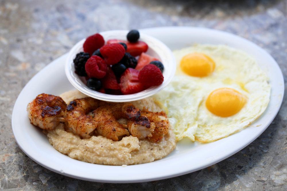 Sarasota Florida best breakfast, shrimp and grits