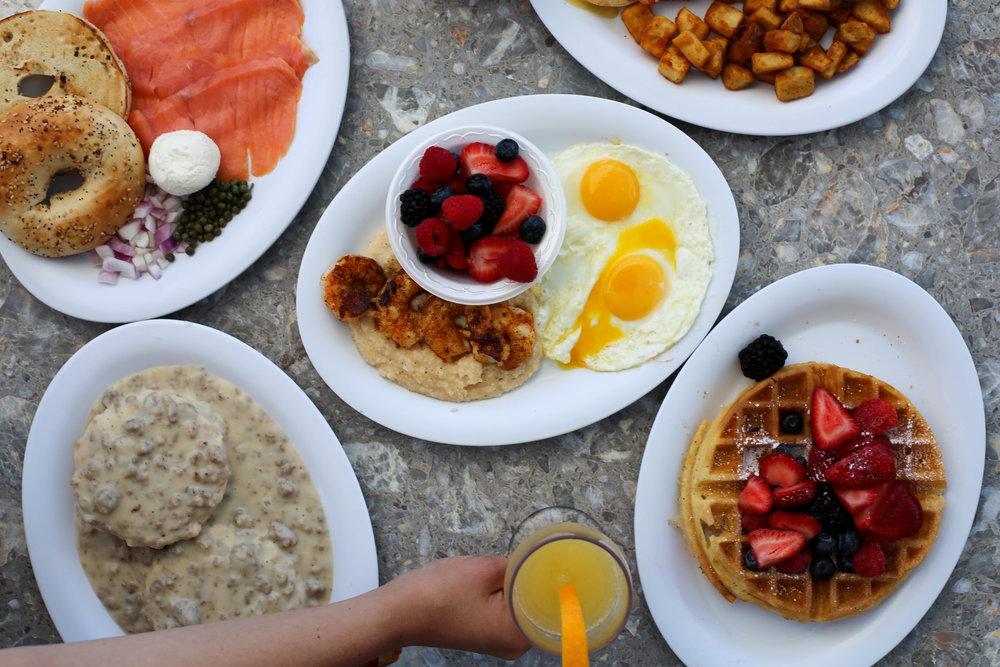 Breakfast, brunch, eggs, lox, waffles, mimosa, bloody mary, florida, long boat key, Sarasota Florida best breakfast