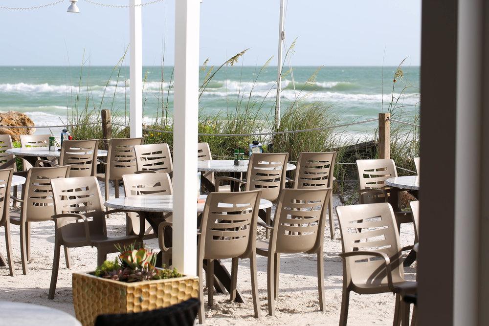 flordia, ocean view, seaside restaurant, outdoor seating, eating outside