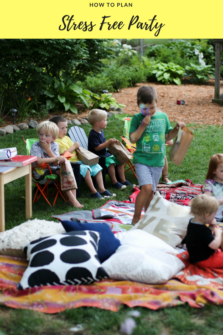 backyard stress free party with kids