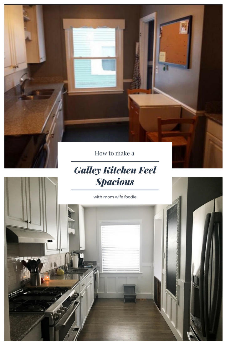 DIY Galley Kitchen Transformation, galley kitchen, how to transform a galley kitchen, all white kitchen, before and after kitchen renovation, board and batten