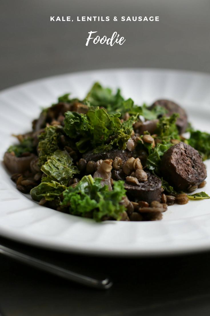 kale lentils and sausage recipe, sausage, lentils, kale, one pot recipe, one pot wonder, healthy dinner, healthy meal, healthy dinner recipe