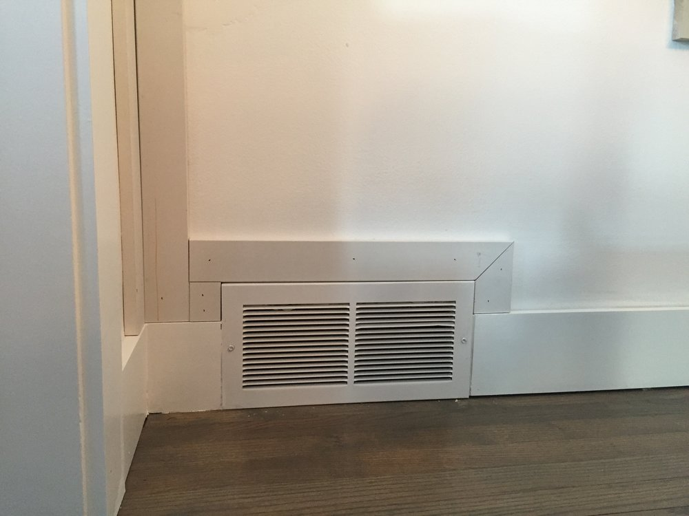 DIY board and batten, board and batten around air vents