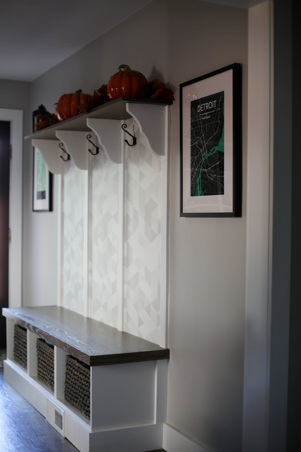 diy mudroom space