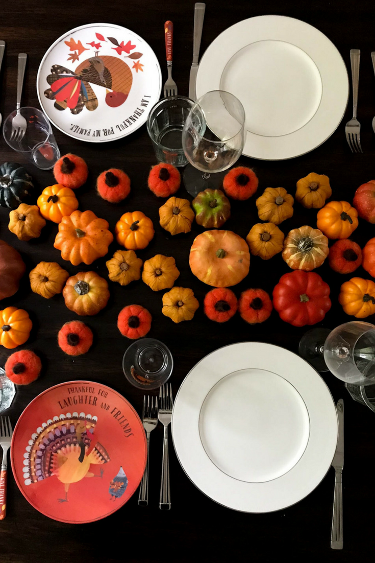 Kid friendly Thanksgiving table setting Thanksgiving table setting Pumpkins Thanksgiving table & 5 KID-FRIENDLY THANKSGIVING TABLE SETTING TIPS \u2014 mom wife foodie