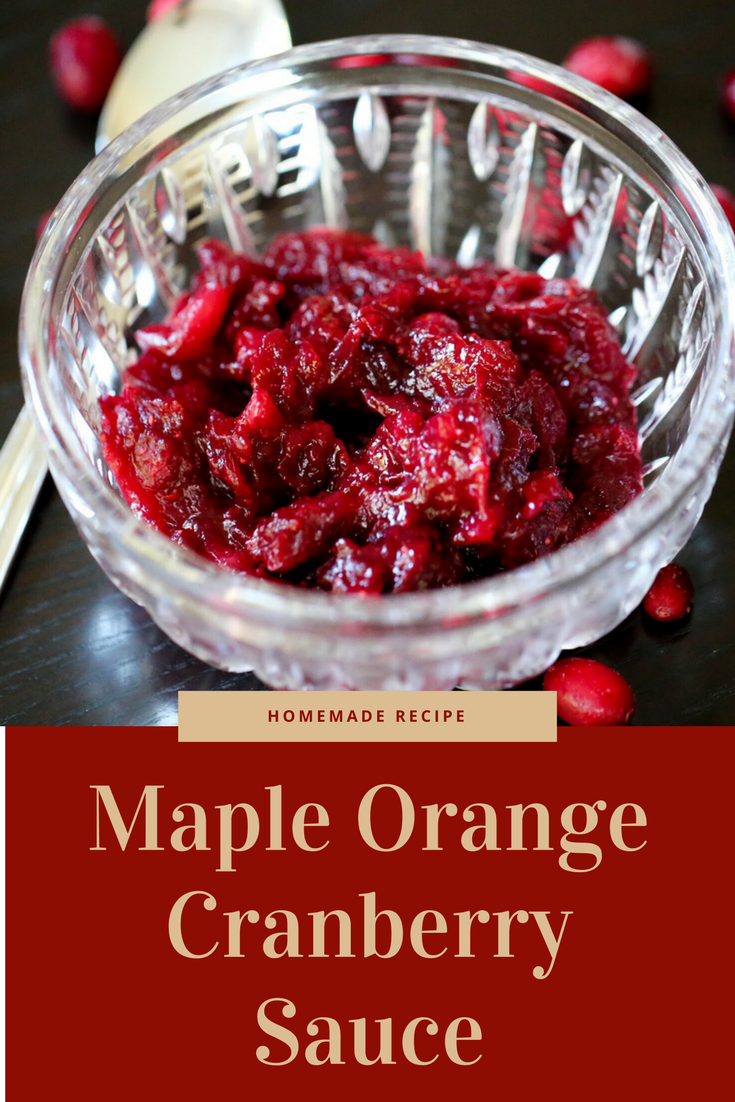 cranberry sauce recipe, healthy cranberry sauce recipe, no refine sugar cranberry recipe, all natural cranberry recipes, maple orange cranberry sauce recipe