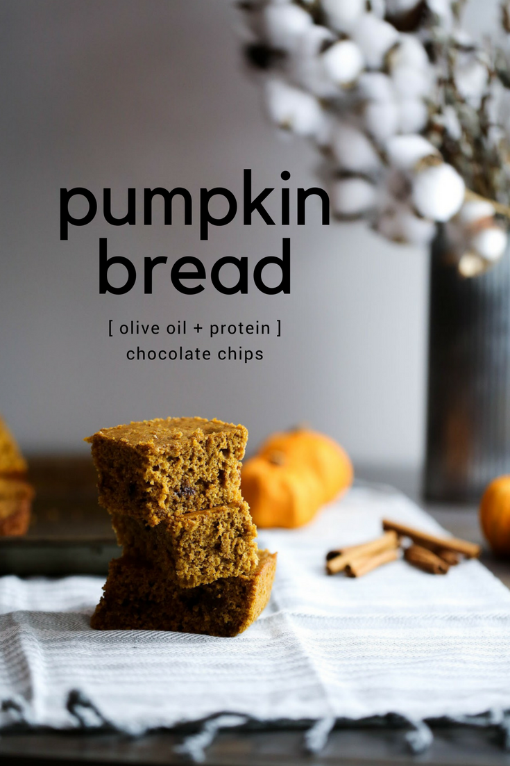 pumpkin bread recipe, olive oil pumpkin bread, pumpkin bread with olive oil, healthy pumpkin bread, moist pumpkin bread, pumpkin bread with protein, protein pumpkin bread