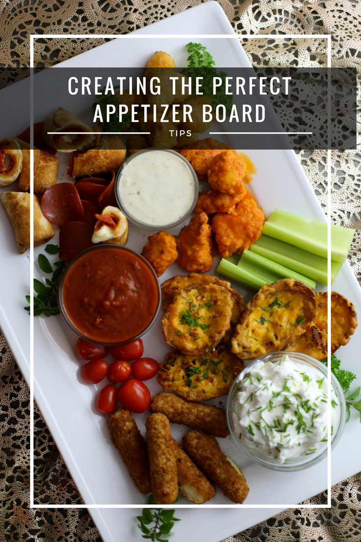 appetizer board tips, creating the perfect appetizer board, friends get together, frozen appetizer, potato skins, pizza rolls, boneless wings, tailgate, homegate, farm rich