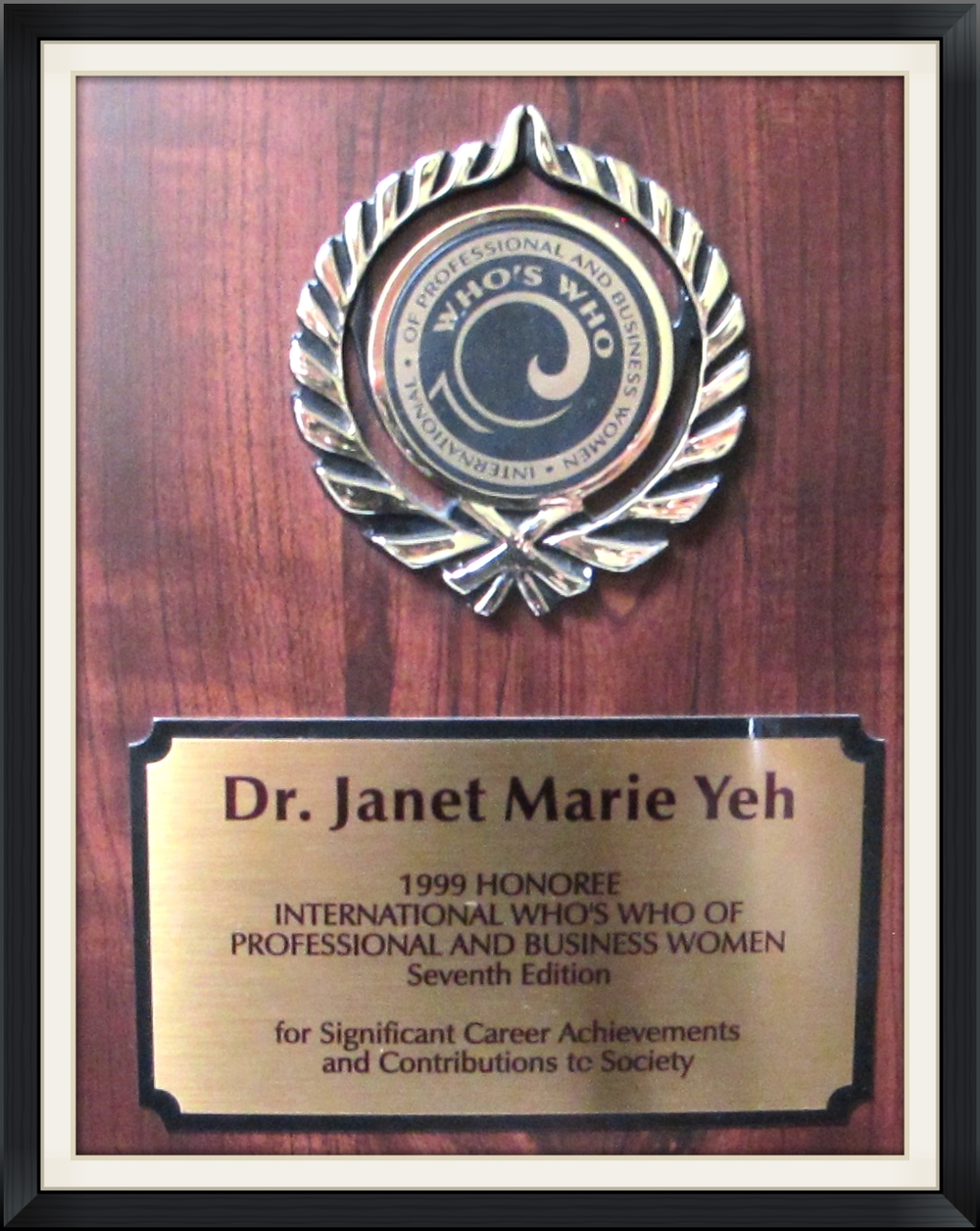 International Who's Who of Professional and Business Dr. Yeh