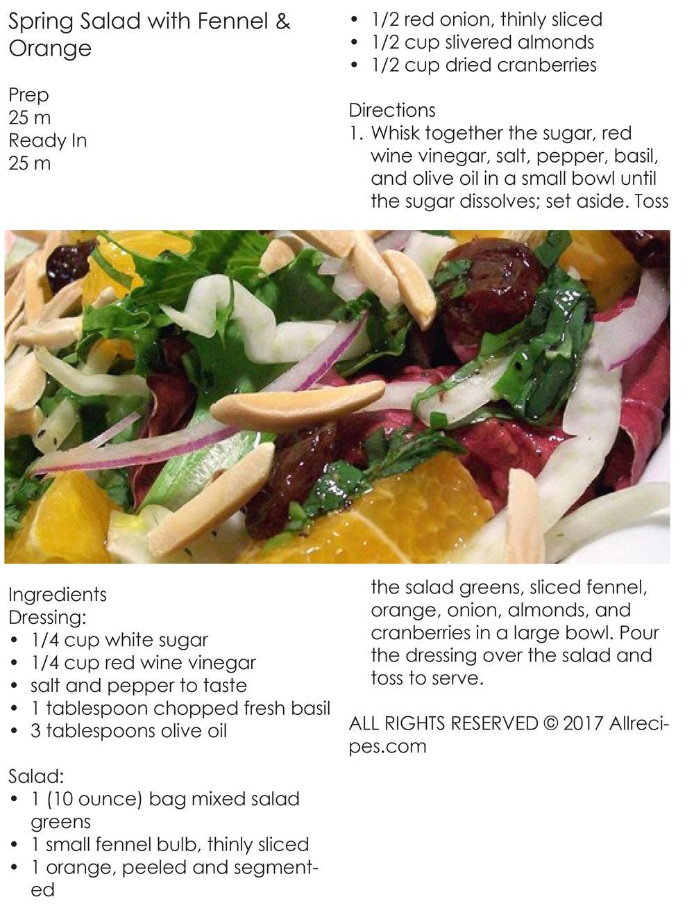 Spring Salad with Fennel & Orange