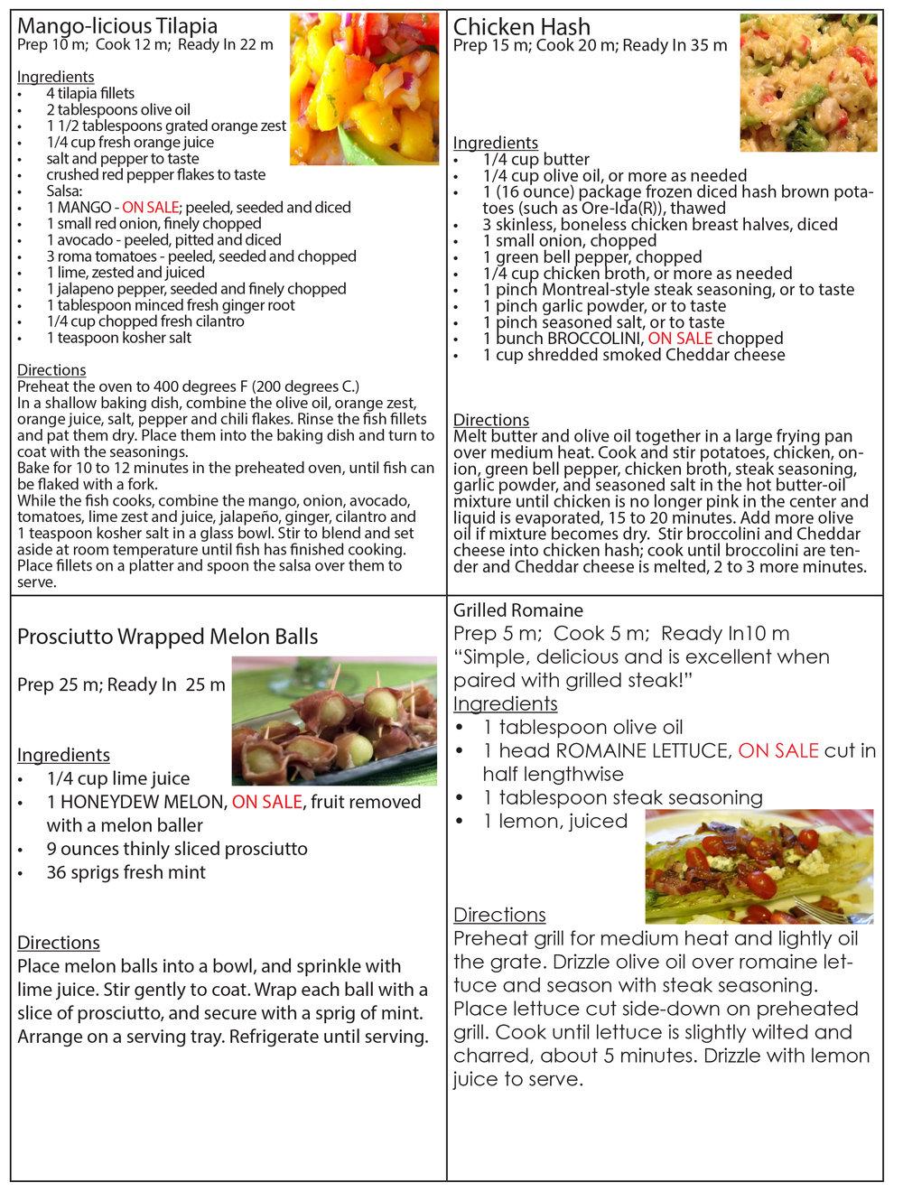 May 16 New recipes
