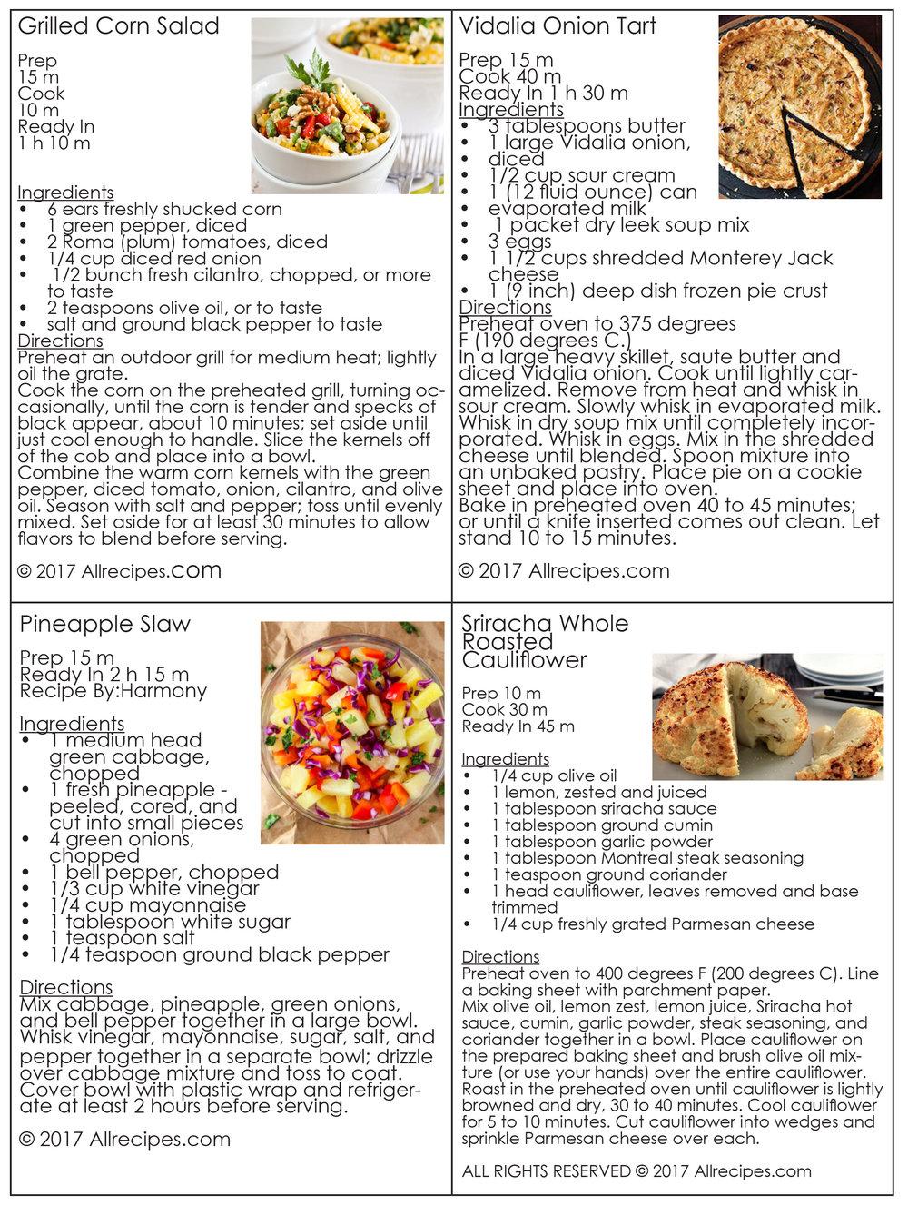 May 23rd recipes
