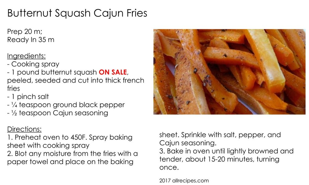 Butternut Squash Cajun Fries