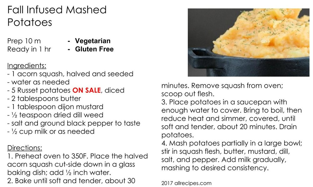 Fall Infused Mashed Potatoes