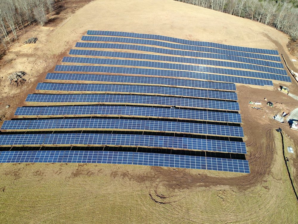 Delaware River Solar panel array