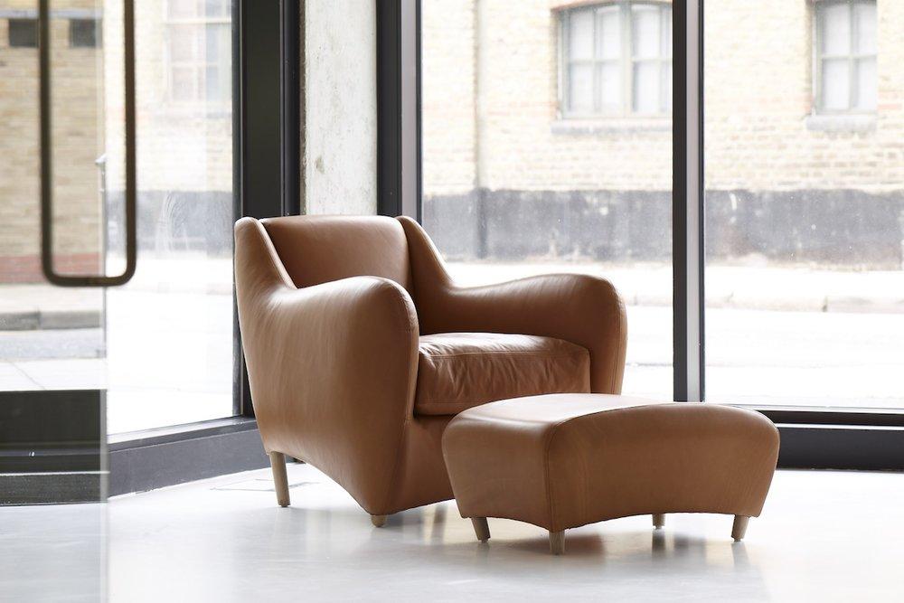 Balzac chair and ottoman, designed by Matthew Hilton