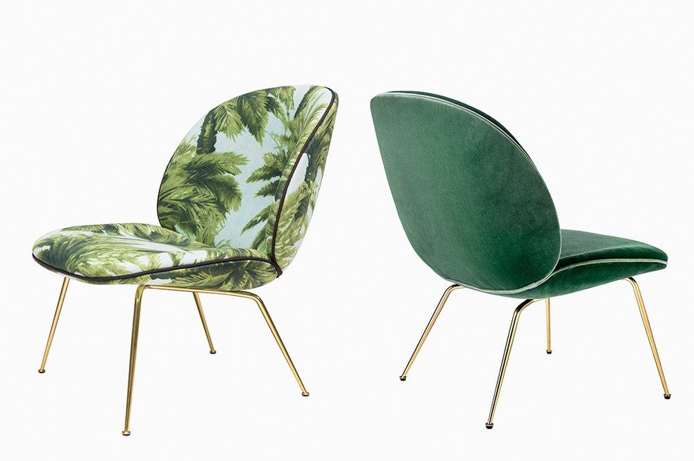Beetle chair, designed by GamFratesi for Gubi