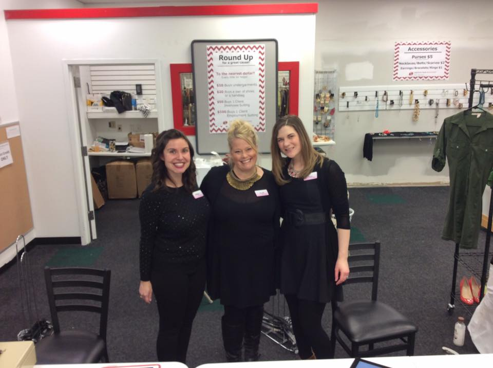 The ladies from Fusion Boutique working the checkout! Pictured left to right: Stacy Grenell, Karla Dixon, Sara Jacobson