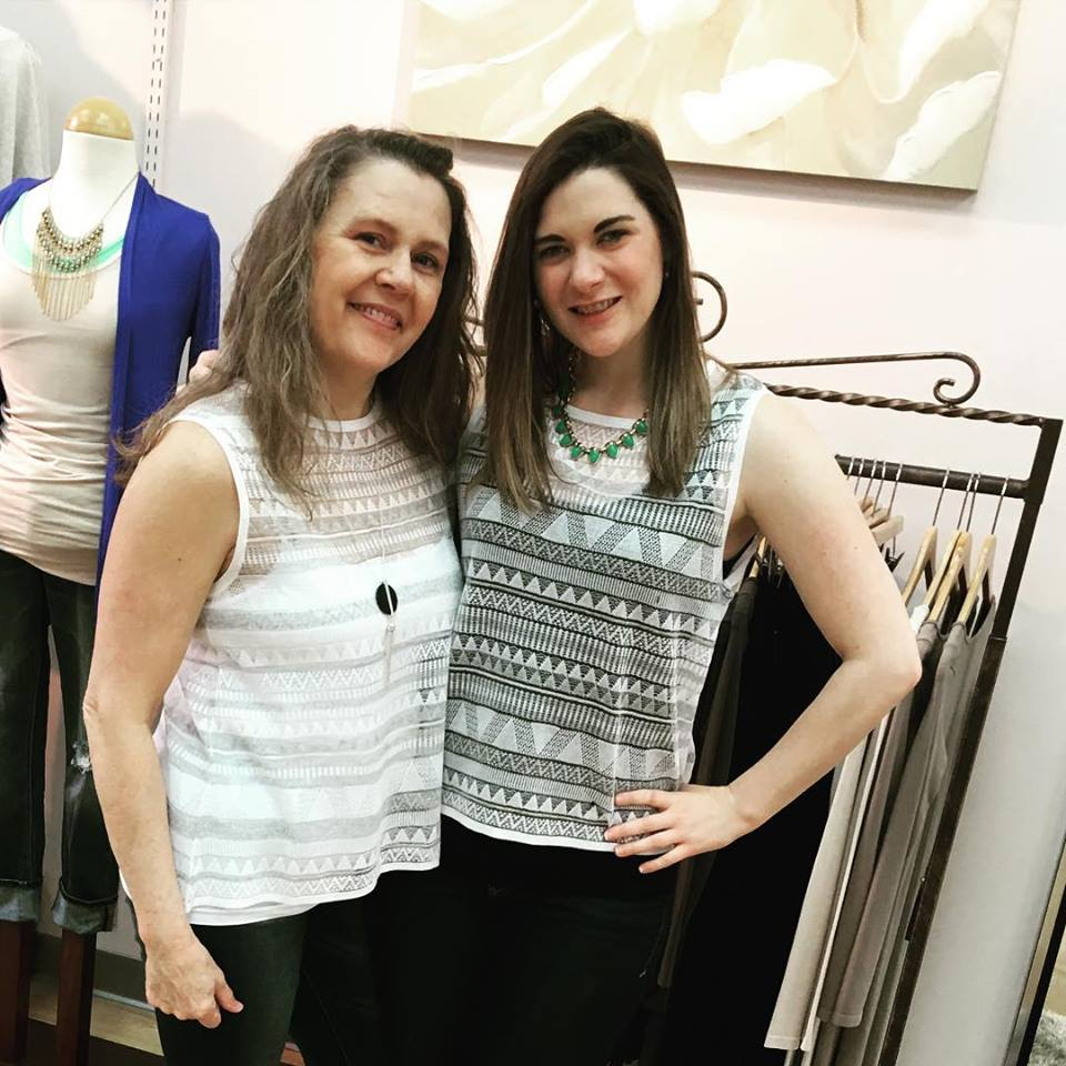 Pictured left to right Shelleena McConnell, Gift Buyer (Sara's mom) and Sara Jacobson (owner of Fusion Boutique)