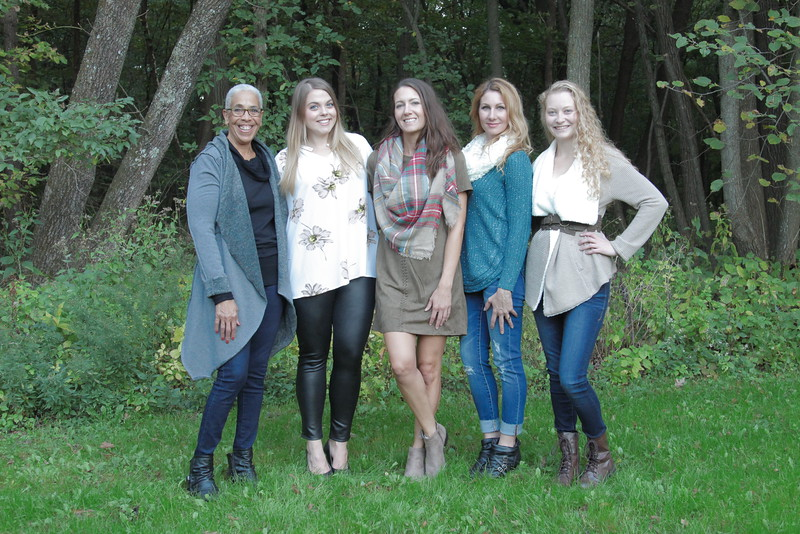 Pictured left to right: Linda Franker, Hannah Stroh, Shanna Killam, Mandee Irwin and Sara Helmers. Photo credit: Karena Steir