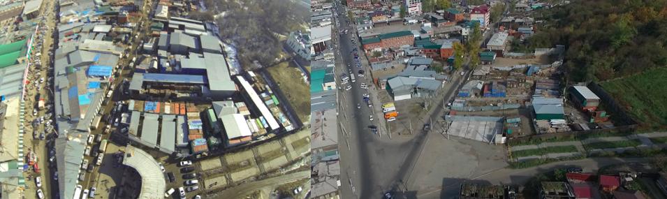 Район улиц Софьи Перовской и Подгорной, 2014 г. / 2016 Г. после расчистки