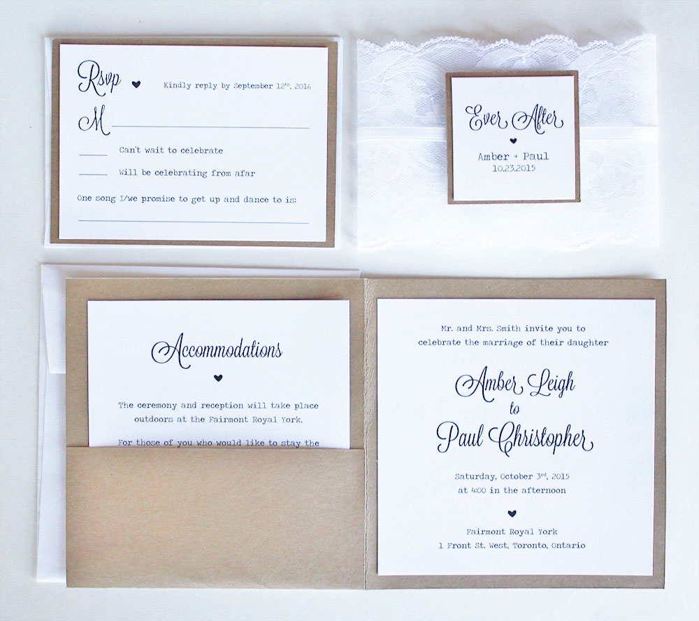 Complete Rustic Kraft and White Lace Wedding Suite — always, by amber