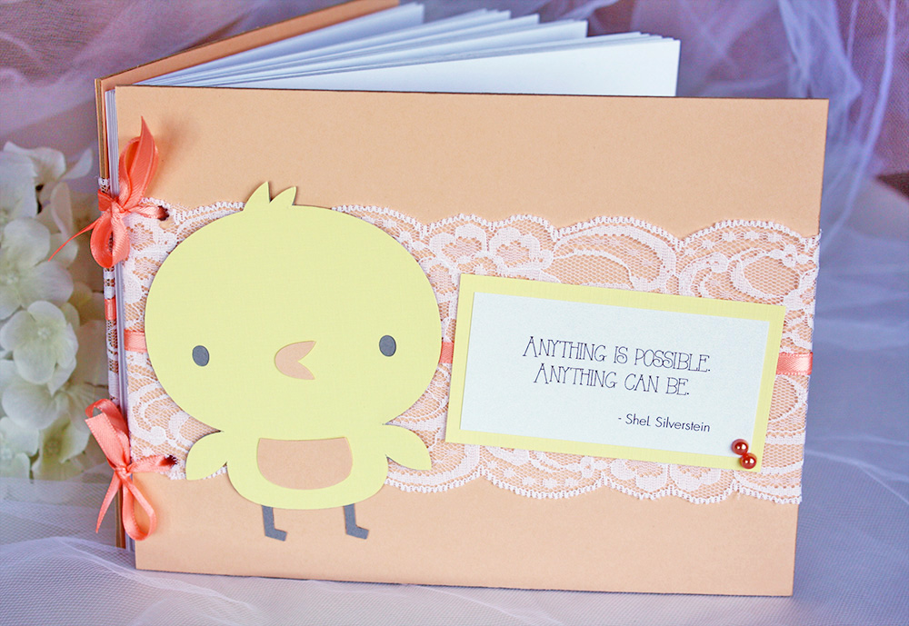 Orange And Yellow Chickadee Baby Shower Guest Book Always By Amber