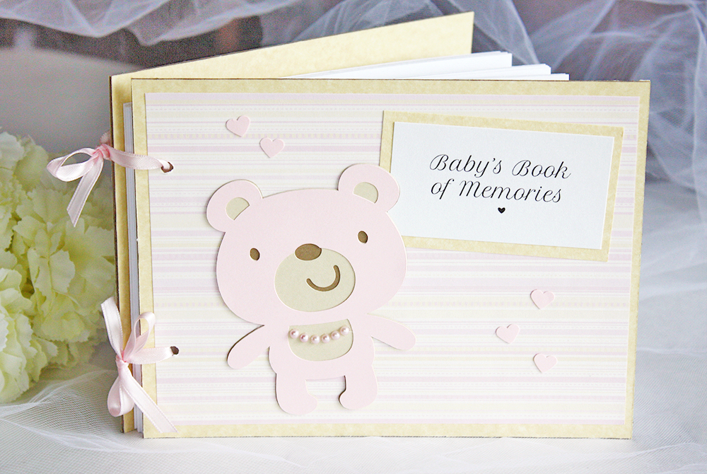 Yellow And Blush Teddy Bear Baby Shower Memory Book Always By Amber
