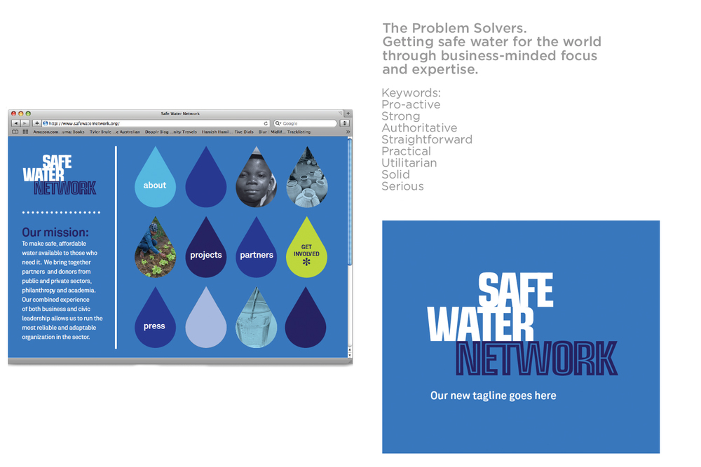 Concept 1 Safe Water Network Brand identity