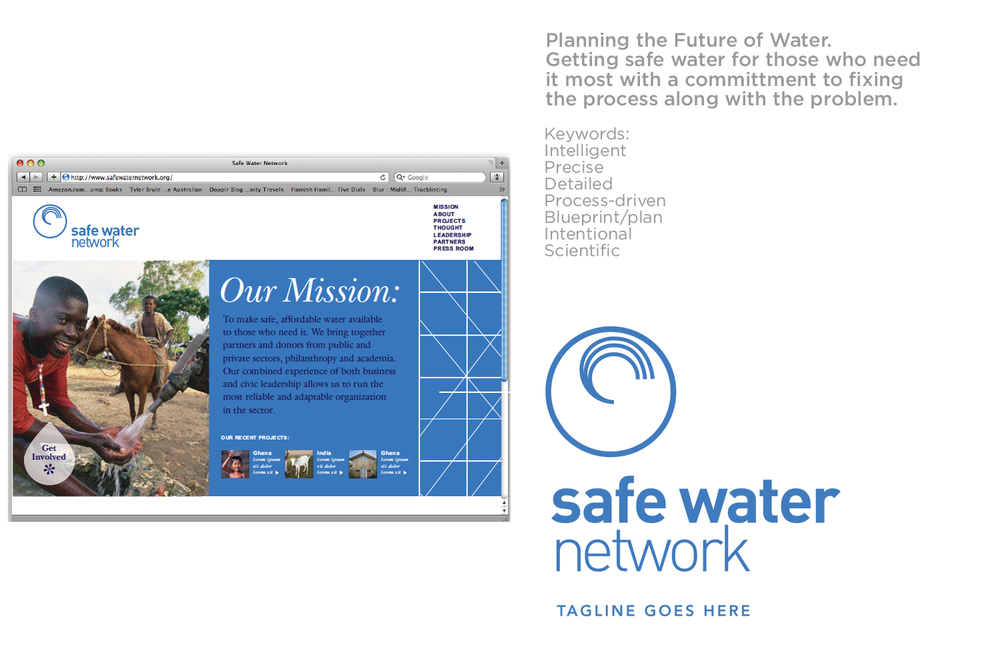 Concept 2 Safe Water Network Brand identity