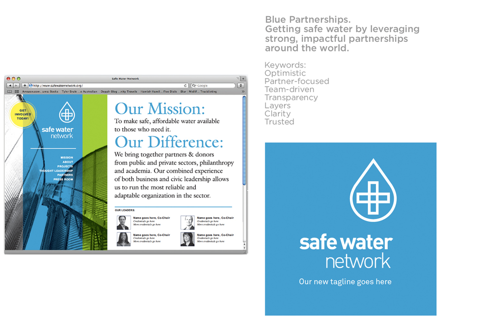 Concept 3 Safe Water Network Brand identity