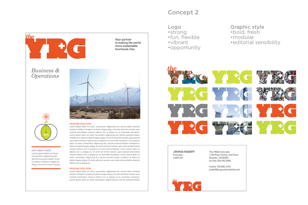 YR+G Sustainability Consultancy Brand identity