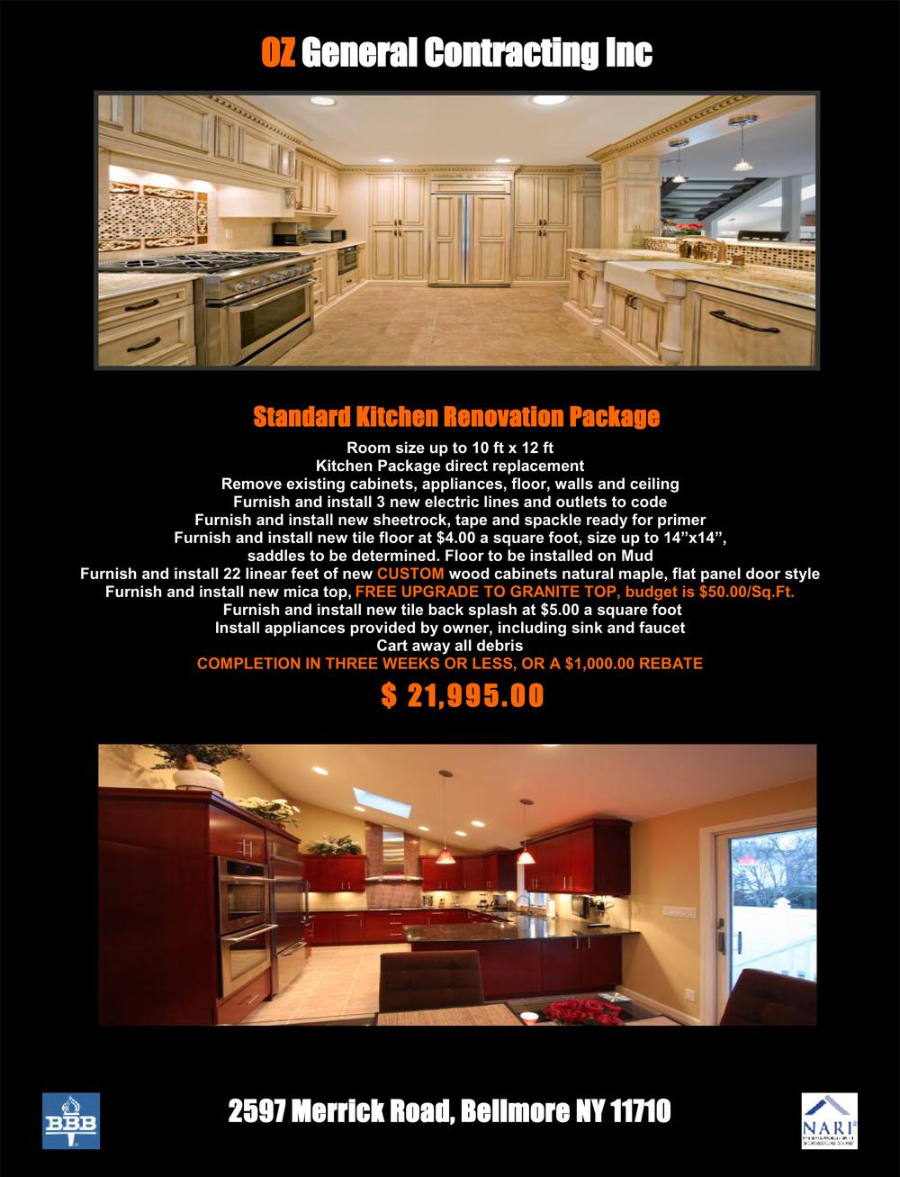 OZ Kitchen Package 1-14-16