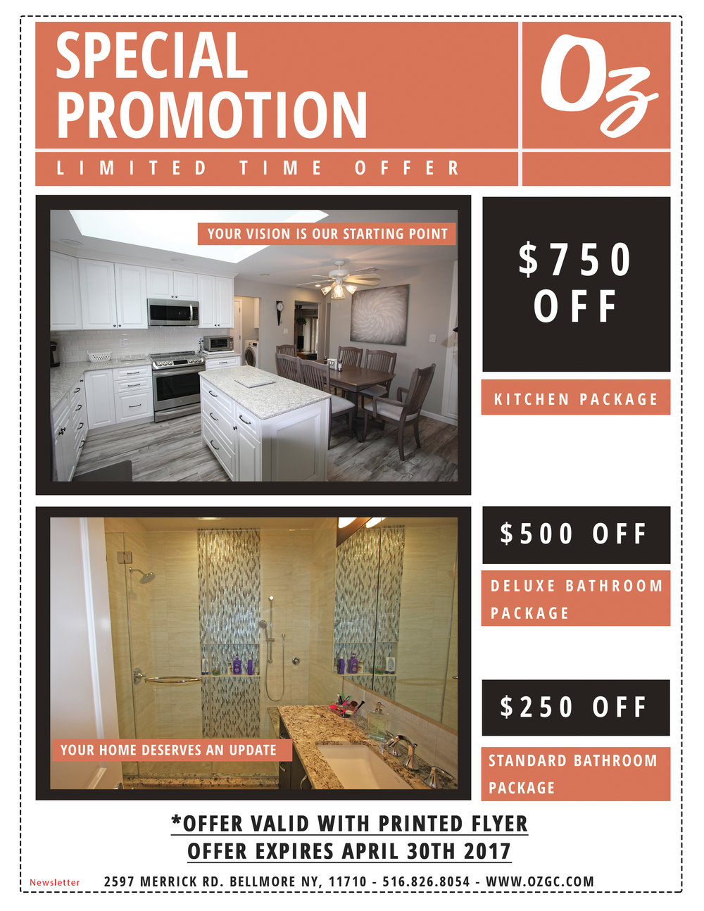 Special 2017 Promotion - Newsletter