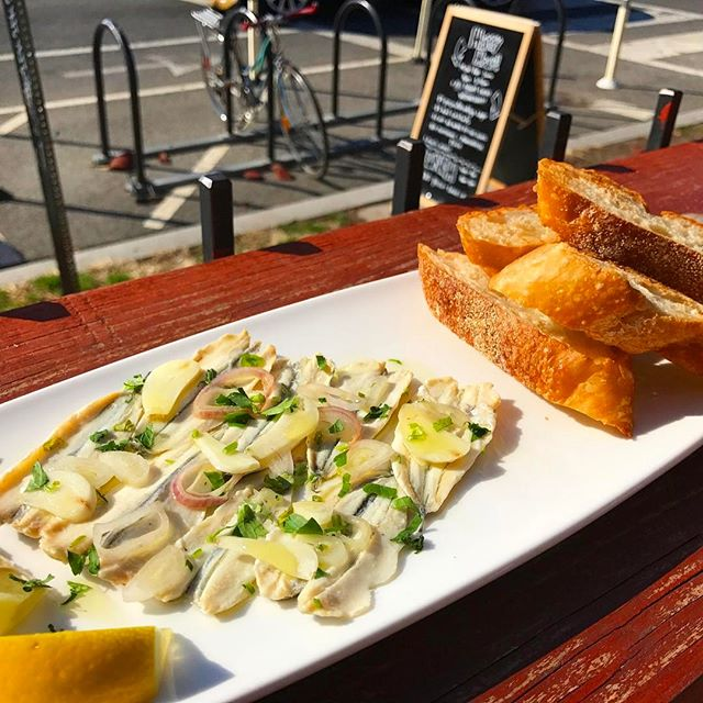Special appetizer! #boquerones en vinagre! Perfect for this #patioweather in #columbiaheights!