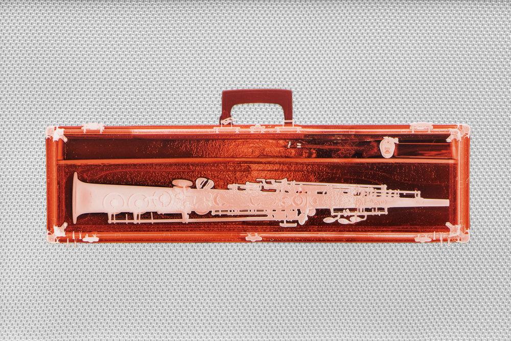 Red Soprano Saxophone