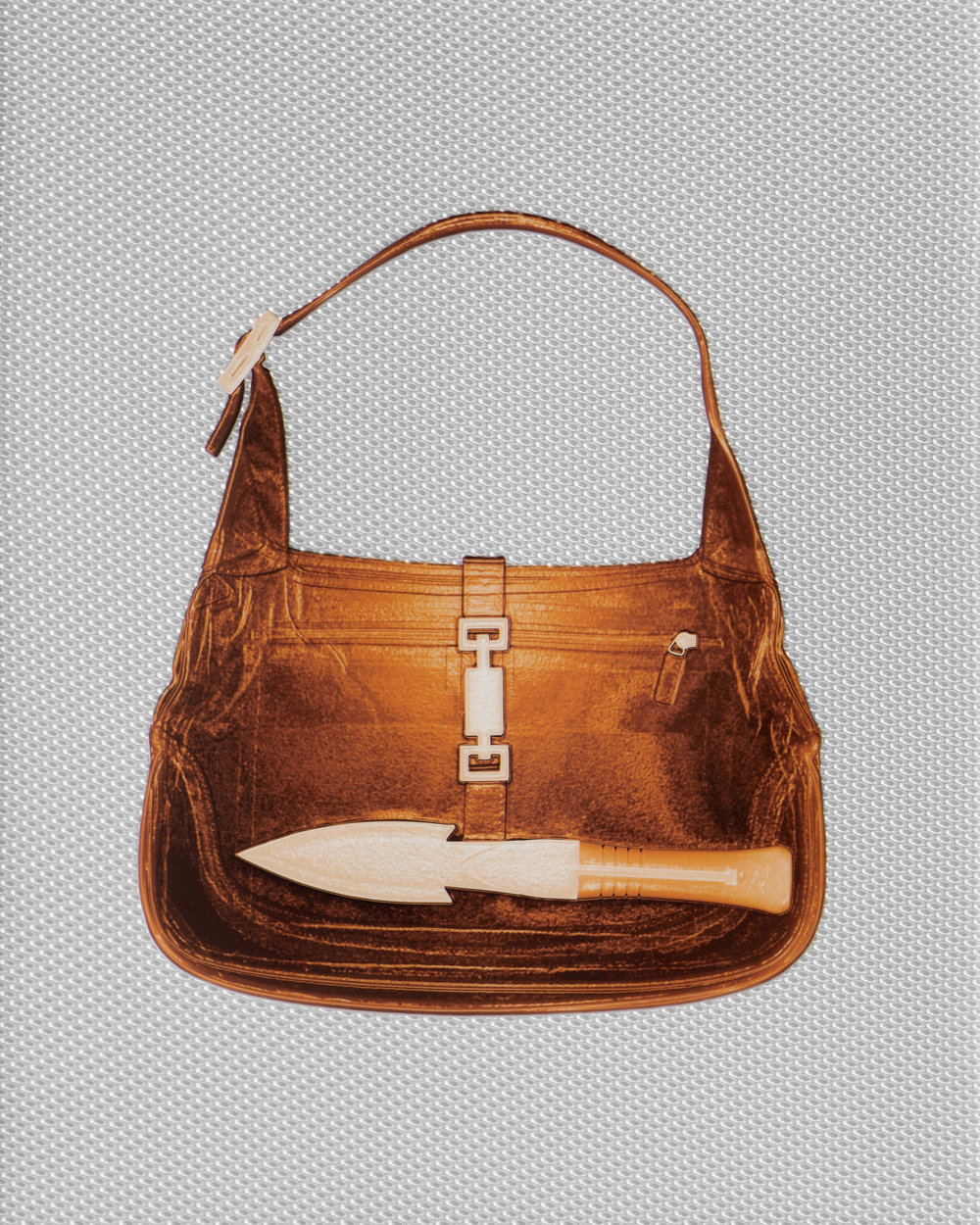 Amber Gucci Handbag With Knife