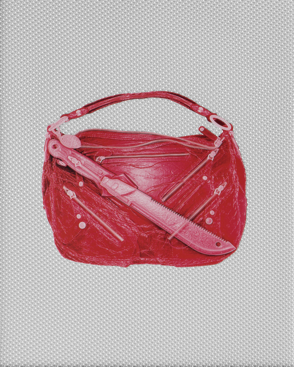 Crimson Tod's Handbag With Machete