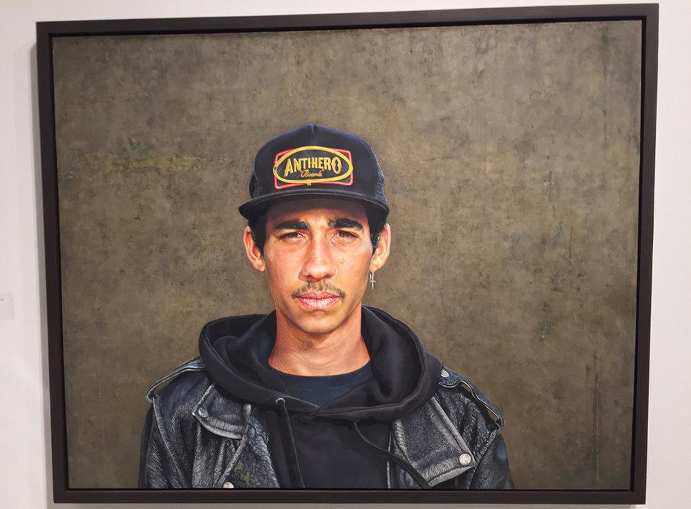Alan Coulson,  Jordan,  oil on panel, 31 x 39 inches.